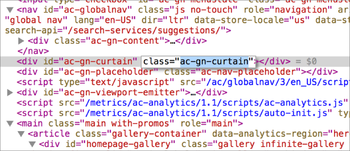 This screenshot shows how to edit an HTML property.