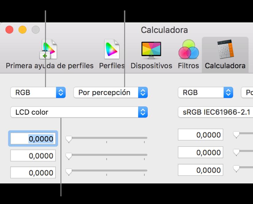Calculadora de color