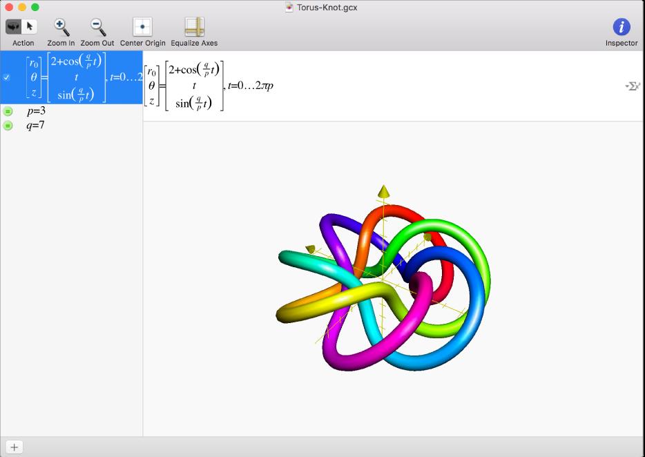 A Torus Knot 3D graph.