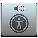 Symbol for Hjælpeprogrammet VoiceOver