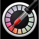 Symbool van Digitale-kleurenmeter