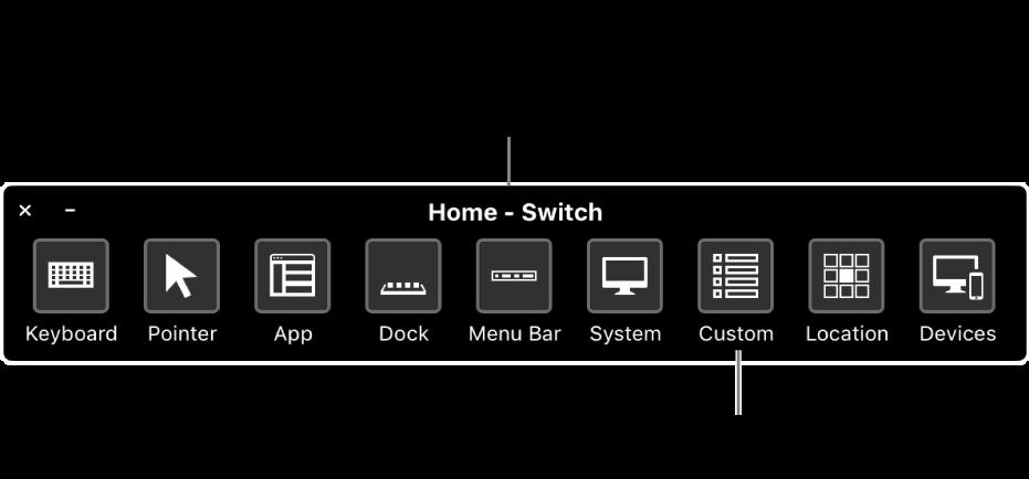 Используйте домашнюю панель Виртуального контроллера для симуляции оборудования и доступа к интерфейсу. Можно настраивать собственные панели для конкретных целей.