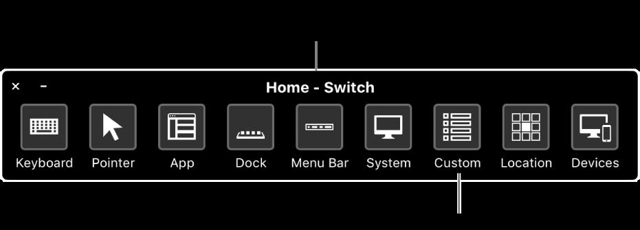 """使用""""切换控制""""的""""个人面板""""来模拟硬件并访问用户界面。专业用户可使用自定面板。"""
