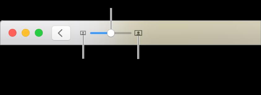 Værktøjslinje, der viser zoomværktøjer.