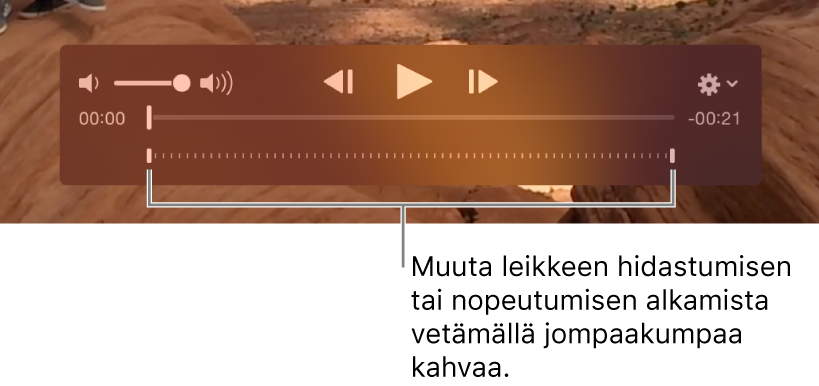 Videoklipin hidastussäätimet
