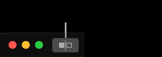 """Il pulsante """"Mostra foto senza regolazioni"""", accanto ai controlli della finestra nell'angolo superiore sinistro della finestra stessa."""