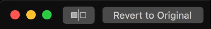 사진 앱 윈도우의 왼쪽 상단 근처에 있는 원본으로 복귀 버튼.