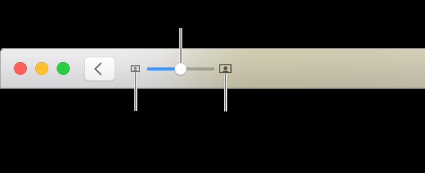 Pasek narzędzi znarzędziami powiększania ipomniejszania.