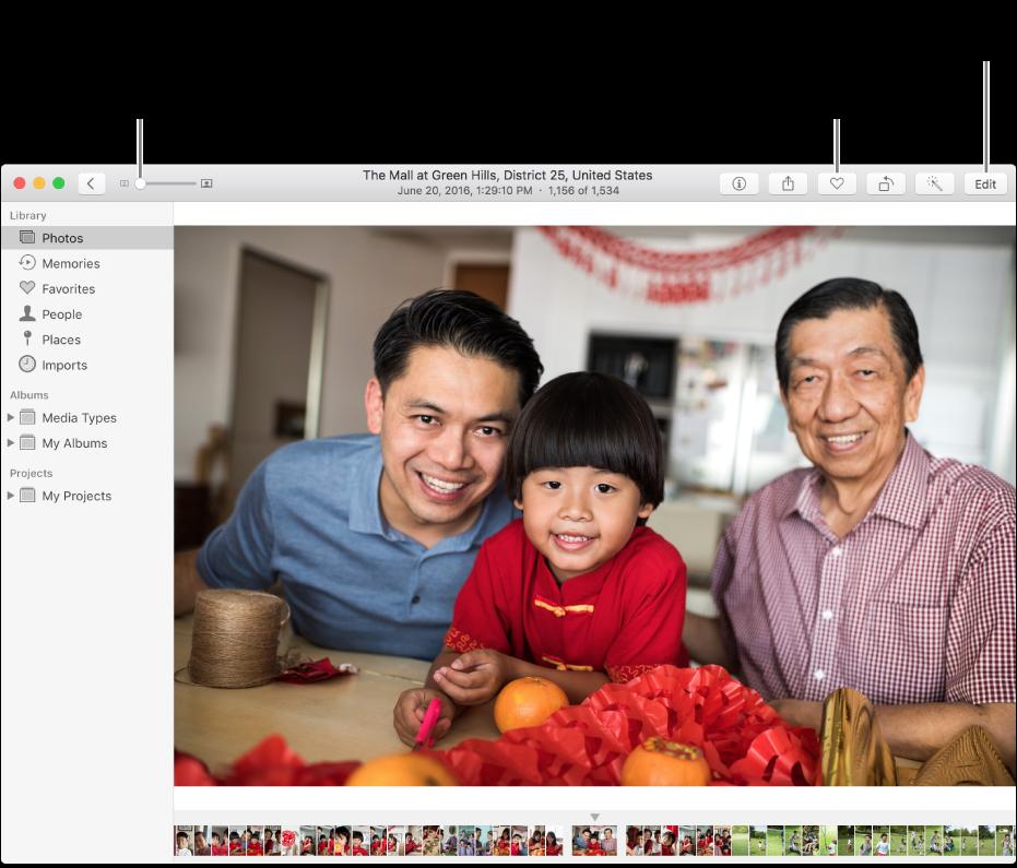 Okno aplikacji Zdjęcia pokazujące pojedyncze zdjęcie.