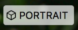 Plakietka trybu portretowego