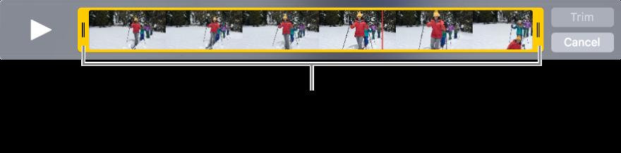 Puxadores de recorte amarelos em um clipe de vídeo