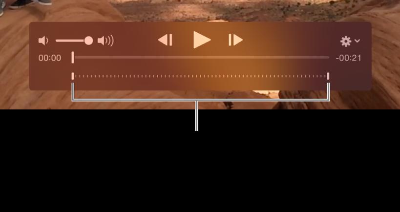 Controlos de câmara lenta num clip de vídeo