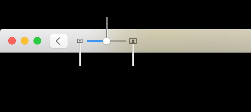 Панель инструментов с элементами управления масштабом.