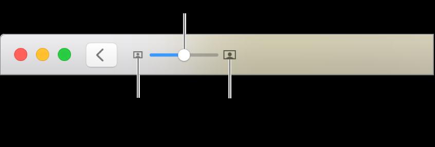 แถบเครื่องมือที่แสดงตัวควบคุมการซูม