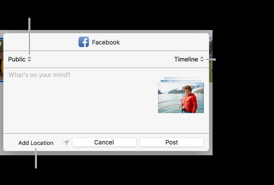 Facebook paylaşım sorgu kutusu.