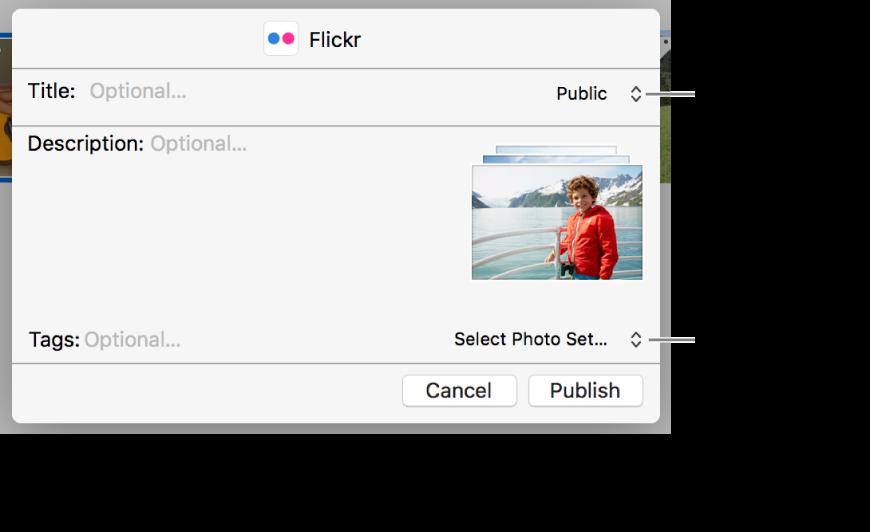 Flickr paylaşım sorgu kutusu.