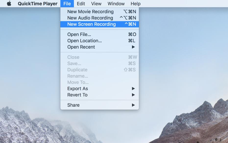 Mac 螢幕,顯示螢幕錄製,方式為使用者選擇「檔案」>「新增螢幕錄製」,按一下「錄製」,拖移過一部分的影片,然後按一下「開始錄製」按鈕。 螢幕中選取的一部分,顯示游標按一下 Finder「編輯」選單中的「表情符號和其他符號」項目。