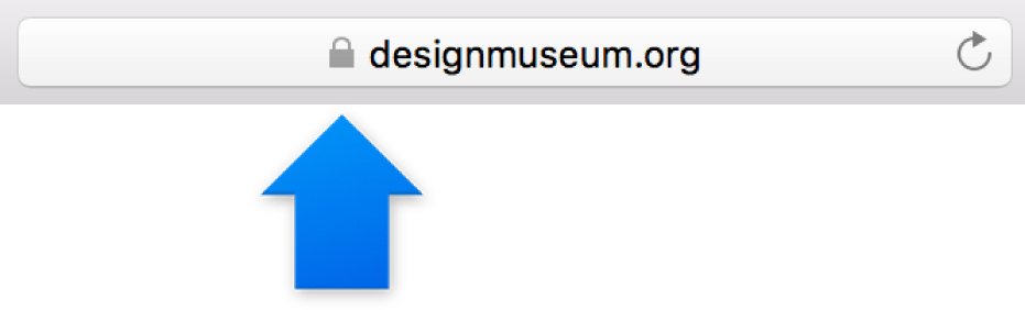 L'icône de chiffrement (un cadenas) pour un site avec un certificat standard.