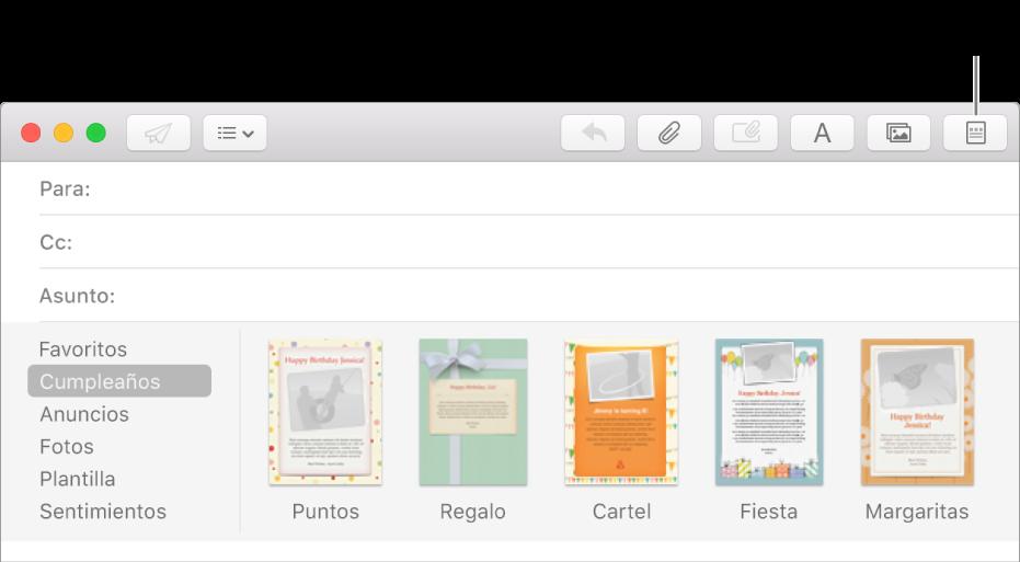Personalizar los correos electrónicos con una plantilla en Mail en ...