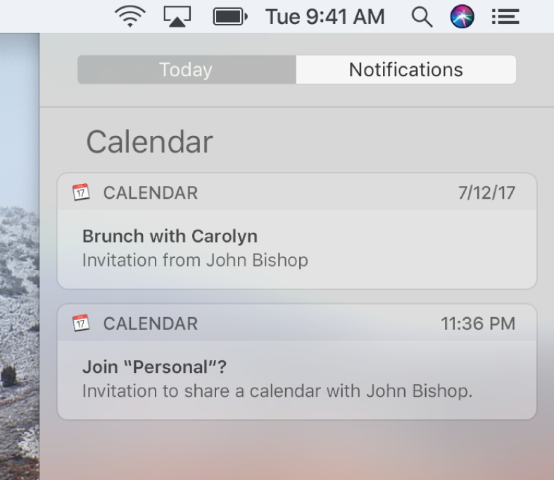 Reply to invitations in calendar on mac apple support calendar event notification and shared calendar notification in notification center stopboris Images