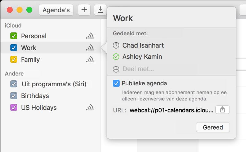 Icloud agenda 39 s delen op de mac apple support for Agenda lantaren venster