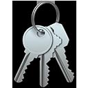 Symbool van Sleutelhangertoegang