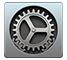 het Systeemvoorkeuren-symbool