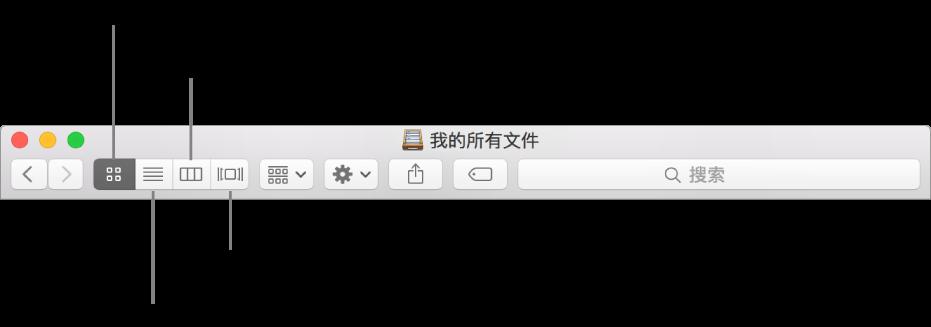 """""""访达""""窗口中的""""显示""""按钮。"""