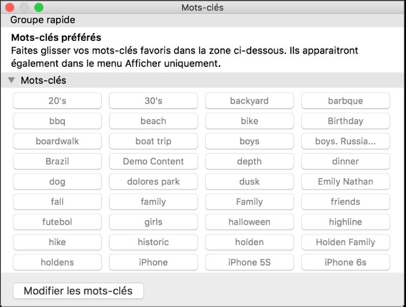 Rechercher des photos par mot cl dans photos sur mac for Gestionnaire de fenetre