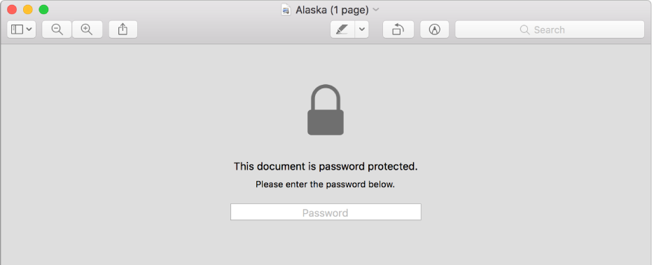 A password-protected PDF.
