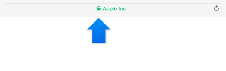 Das Verschlüsselungssymbol (das einem Schloss ähnelt) für eine Site mit einem erweiterten Validierungszertifikat.