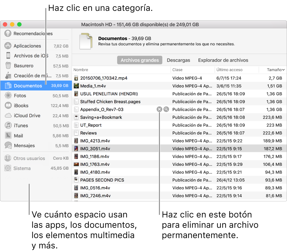 Haz clic en el botón Eliminar para eliminar de forma permanente el archivo.