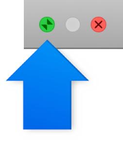 الزر الذي يتم النقر عليه للخروج من وضع ملء الشاشة.