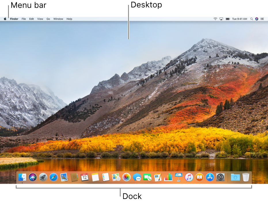 An example of a desktop.