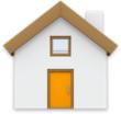 Symbolen för hemmappen.