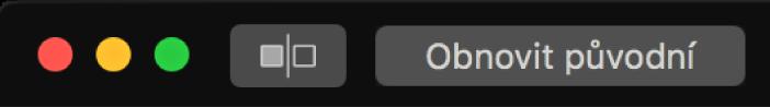Tlačítko Obnovit původní poblíž levého horního rohu okna aplikace Fotky.
