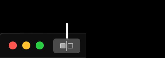 Tlačítko Bez úprav vedle ovládacích prvků okna vlevém horním rohu okna