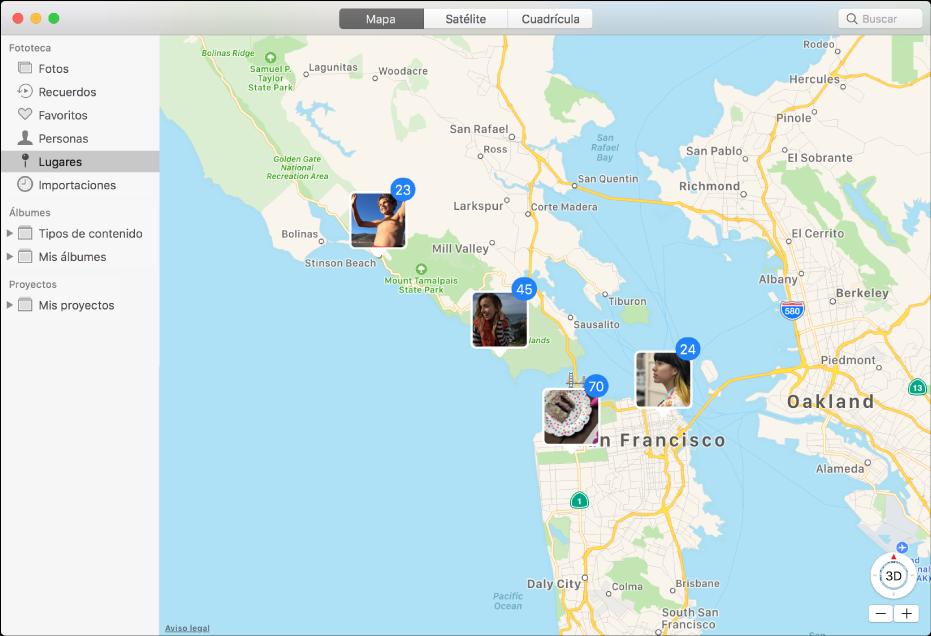 Ver fotos segn la ubicacin en la app fotos en la mac soporte la ventana de fotos mostrando un mapa con miniaturas de fotos agrupadas por ubicacin gumiabroncs Choice Image