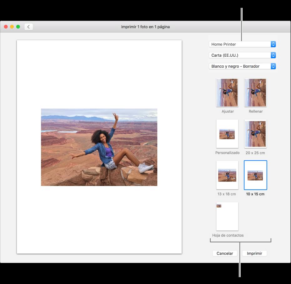 Imprimir tus propias fotos usando al app Fotos en la Mac - Soporte ...