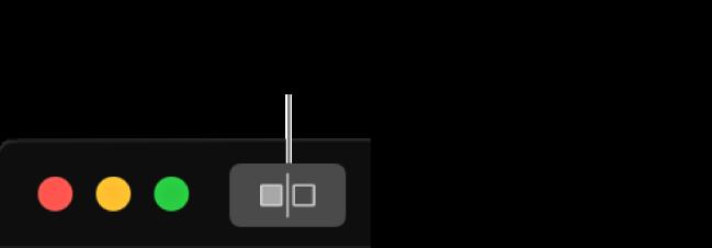 Butang Tanpa Pelarasan bersebelahan kawalan tetingkap di penjuru kiri atas tetingkap.