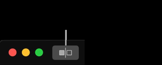 De knop voor een foto zonder aanpassingen, naast de vensterregelaars in de linkerbovenhoek van het venster.