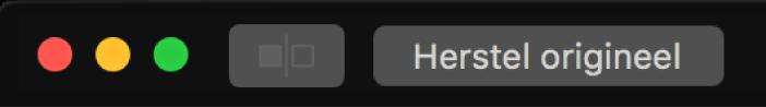De knop 'Herstel origineel' bij de linkerbovenhoek van het Foto's-venster.