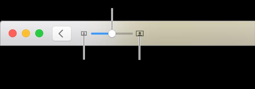 显示缩放控制的工具栏。