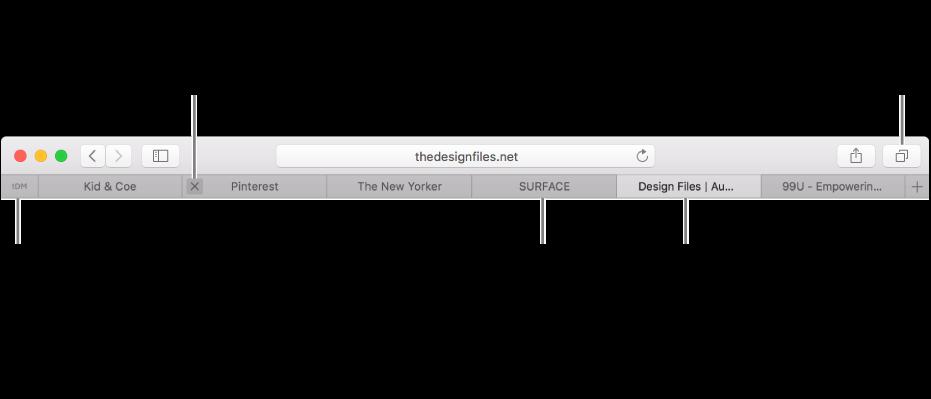 Utilizar pestañas para las páginas web en Safari en el Mac - Soporte ...
