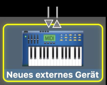 MIDI-Eingang und MIDI-Ausgang für ein MIDI-Gerät