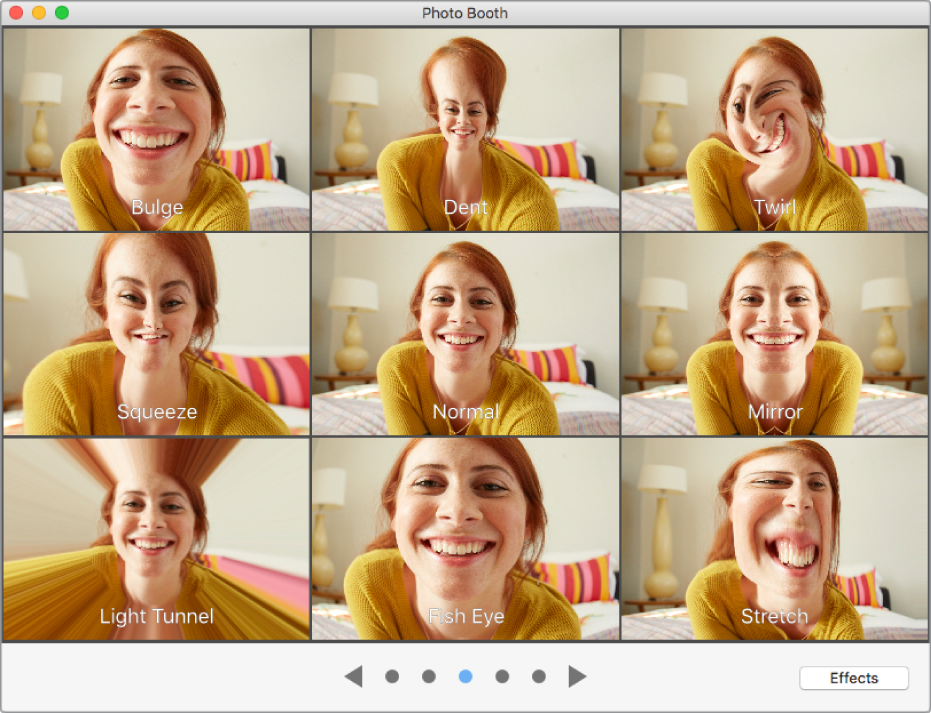 how to use photo booth effects on facetime