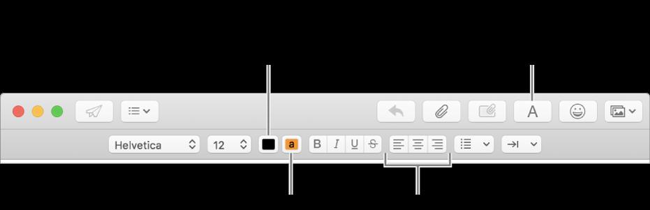 Formattare il testo nelle e mail in mail sul mac supporto apple - Testo a finestra ...