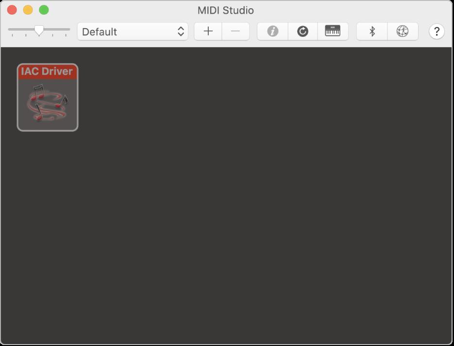 The MIDI Studio window.