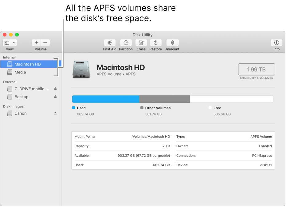 how to delete a container in disk utility