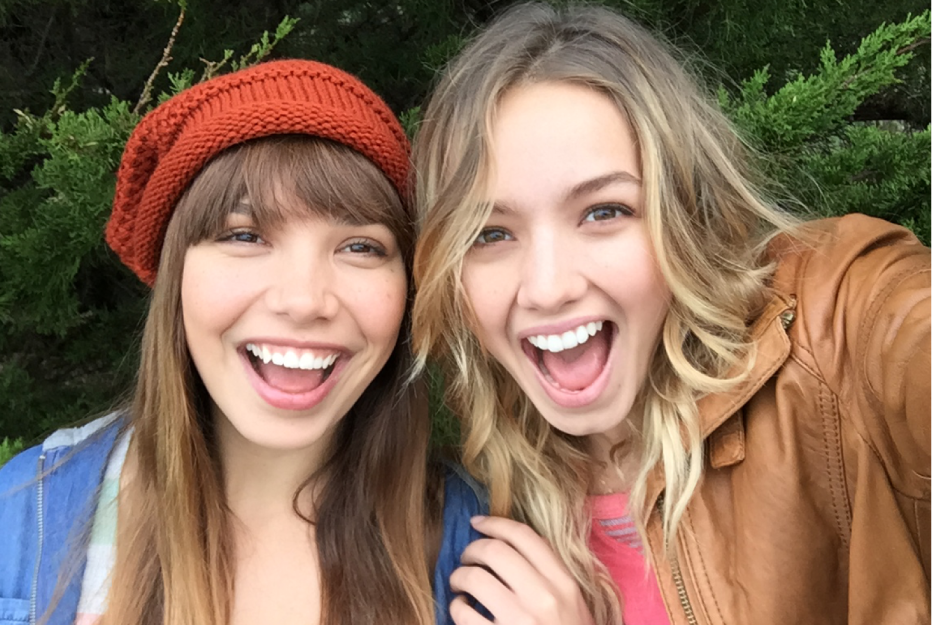 Picture showing two smiling woman in a selfie.